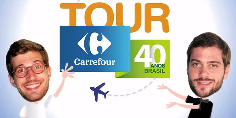 Em comemoração aos 40 anos da marca no Brasil, criamos o Hotsite Carrefour Tour 40 Anos.